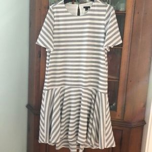 NEW!  Ann Taylor Black and White Striped Dress